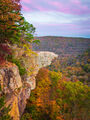 Hawksbill Crag in Autumn print