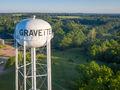 Old Gravette Water Tower print