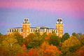 Pink Sky Over Old Main print