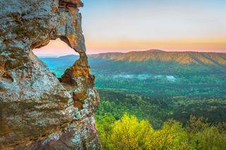 Arkansas Sphinx, Damon Shaw, Ozark National Forest, rock outcrop, arch, sandstone, Ozarks,