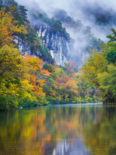 fall, autumn, Buffalo River, Buffalo National River, fall color, reflection