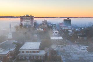 Foggy Fayetteville