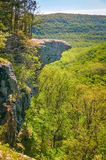 Arkansas landscapes, Arkansas photography, Hawksbill Crag, Ozark National Forest, Ozarks, Upper Buffalo Wilderness, spring, green, Whitaker Point, vertical, magazine cover