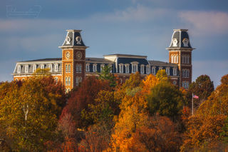 Old Main, University of Arkansas, Fayetteville, Fayetteville Arkansas, Northwest Arkansas, fall color, fall foliage