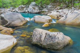 Ozark National Forest, Richland Creek, Ozarks, water, colorful water, rocks, boulders