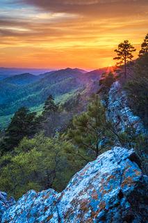 Ouachita Mountains, Ouachita National Forest, sunset