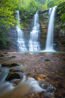 Triple Falls, green, waterfall, Arkansas waterfalls, vertical