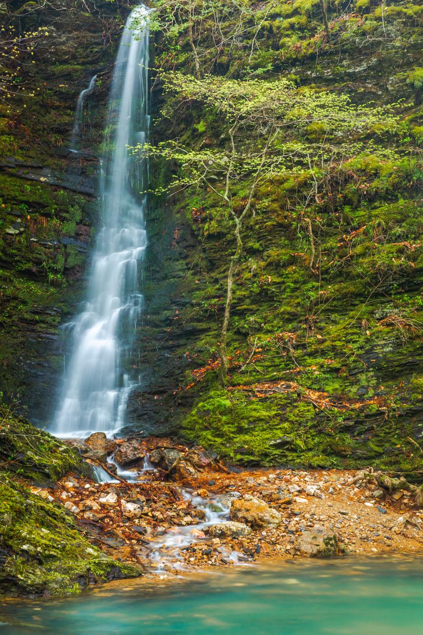 Blaylock Creek Falls, Arkansas waterfalls, waterfall, green , photo