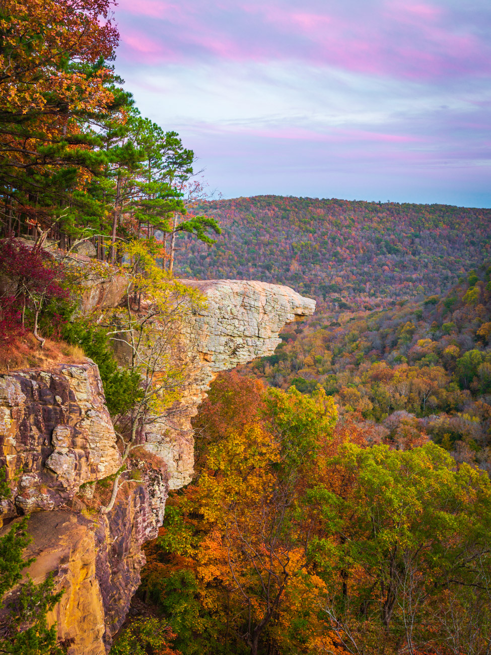 Hawksbill Crag, Upper Buffalo Wilderness, Whitaker Point, fall, autumn , photo