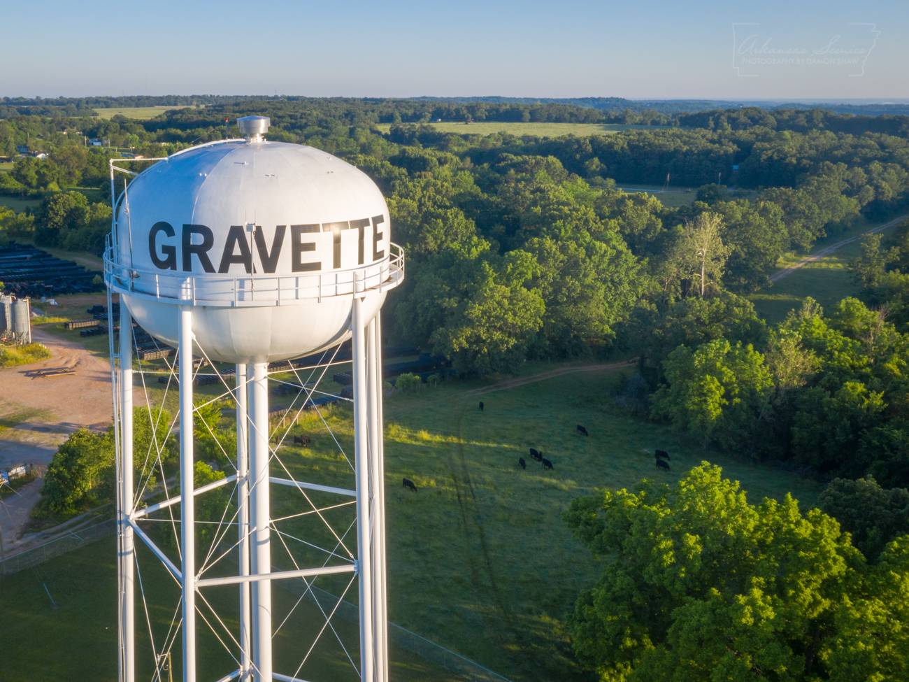 The old water tower just outside of Gravette